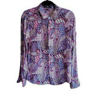 ETRO paisley print cotton button down shirt